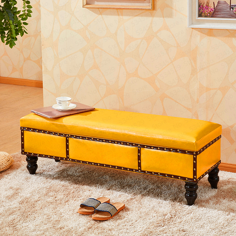 Customized Clothing Store Shoes Bench Solid Wood Fitting Room Storage Stool Dressing Room Long Bench Stool Sofa Bed Bed Stool