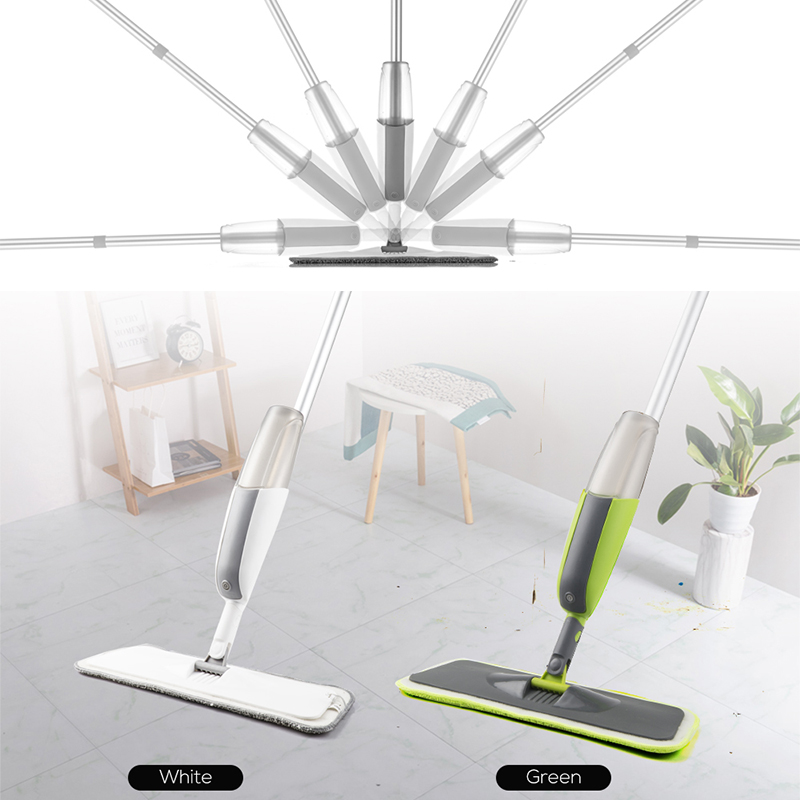 Magic Spray Mop Wooden Floor with Reusable Microfiber Pad 360 Degree Handle Home Window Kitchen Supplie Sweeper Broom Clean Tool(China)