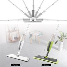 Magic Spray Mop Wooden Floor with Reusable Microfiber Pad 360 Degree Handle Home Window Kitchen Supplie Sweeper Broom Clean Tool