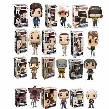 Funko pop Stranger Things Eleven Demogorgon Hopper Jonathan Nancy Brenner Joyce Action Figures Collectible Model Toys with box
