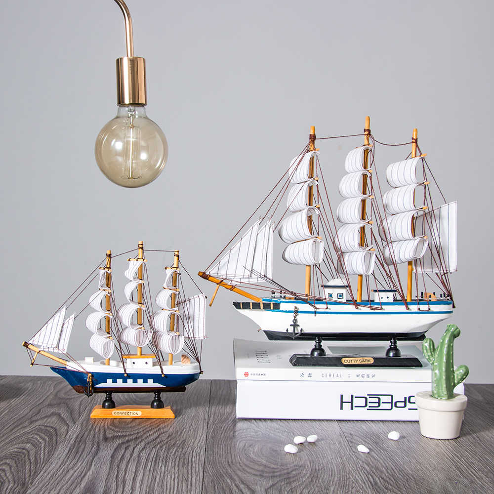 Home Decor Wooden Crafts Sailing Boat