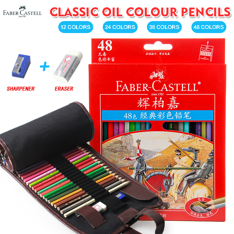 Faber Castell 12/24/36/48Color Classic Color Pencil Lapis De Cor Oil Colour Pencil For Office School Drawing Design Supplies