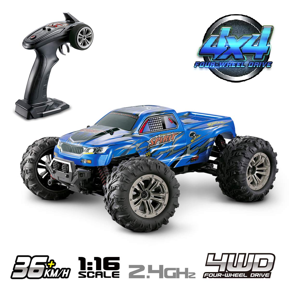 REMO HOBBY 1021 1:10 4WD RC Cars 30-40km/h High Speed 2.4G RC Off-road Short-distance 3300mAh Battery Monster Truck Climbing Car