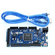 DUE 2012 R3 Board AT91SAM3X8E ARM 32 Bit with Data Cable Set black due r3 board due ch340 atsam3x8e arm main control board with ch340g for arduino