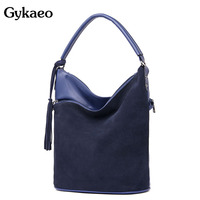 Gykaeo Luxury Handbags Women Bags Designer Bucket Tassel Shoulder Bag Ladies Street Fashion Cross Body Bags for Women Tote Bag