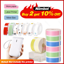 D11 Label Sticker Paper Roll Replacement Niimbot Labels Paper for wireless Label Printer Niimbot color white transparent Paper