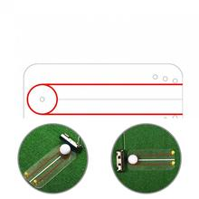 Clear Printing  Useful Oscillating Training Alignment Golf Practice Board Acrylic Golf Training Board Thicker   for Outdoor