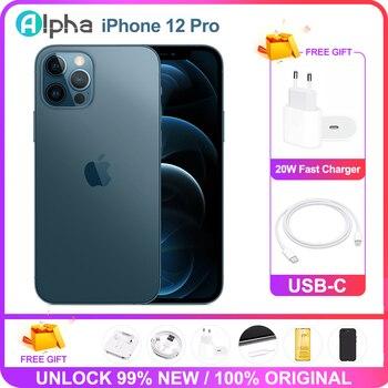 100% Original Apple iphone 12 pro 6GB RAM 128GB/256GB OLED Screen A14 Bionic 5G phone Support Face ID Unlocked Used 1