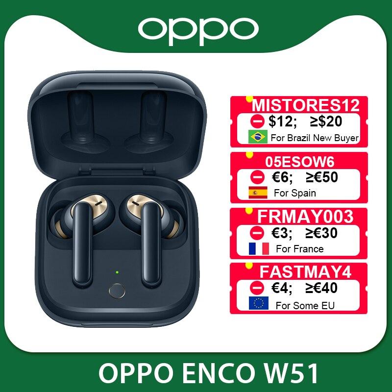 OPPO Enco W51 / W31 TWS Kopfhörer Bluetooth 5.0 Drahtlose Kopfhörer für Reno 4 SE Pro 3 Finden Sie X2 Pro ACE 2