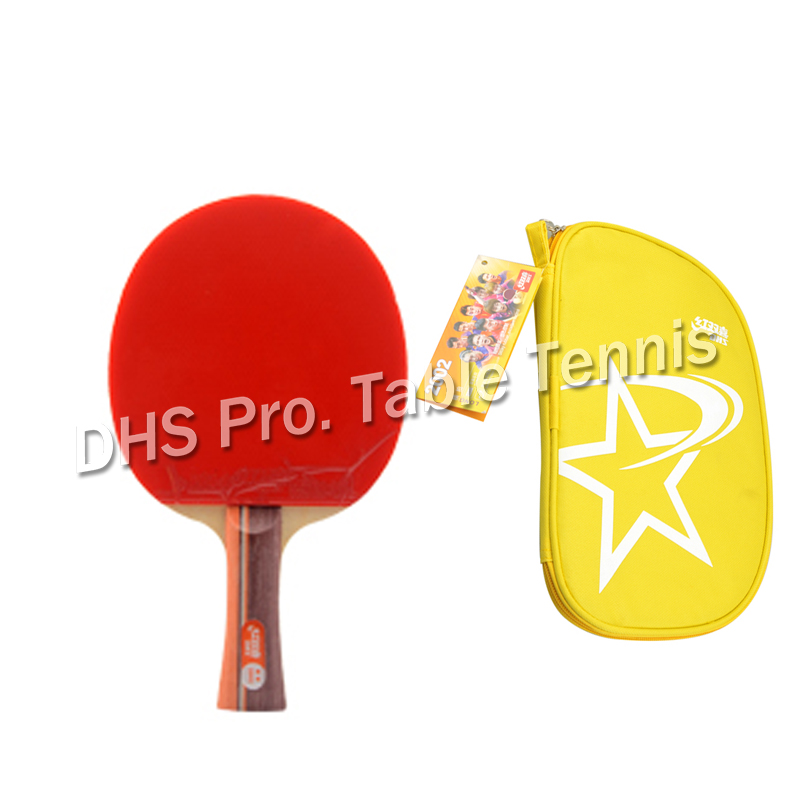 Original DHS 2002 2006 Table Tennis Rackets 2 Stars With Pimples In Table Tennis Rubber Finished Rackets Ping Pong Paddles