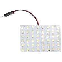 цена на White 1210 SMD 48 LED Car Interior Dome Light Panel w T10 BA9S Festoon