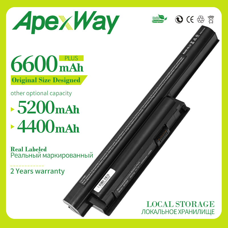 Apexway Laptop Battery For SONY VAIO BPL26 BPS26 VGP-BPL26 VGP-BPS26 VGP-BPS26A Vgp Bps26 VPCEL15EC SVE141 SVE14A SVE15 SVE17