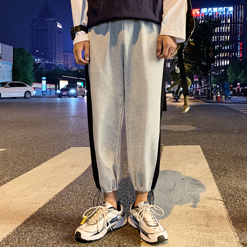 Autumn New Joggers Pants Men Fashion Track Pants Contrast Color Casual Gym Trousers Streetwear Wild Hip Hop Loose Sweatpants