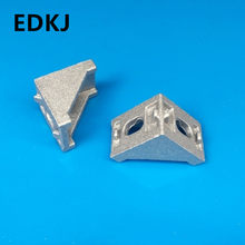 10pcs aluminum 2020 corner bracket fittings corner angle bracket connector 2028 3D printer aluminum automatic equipment frame