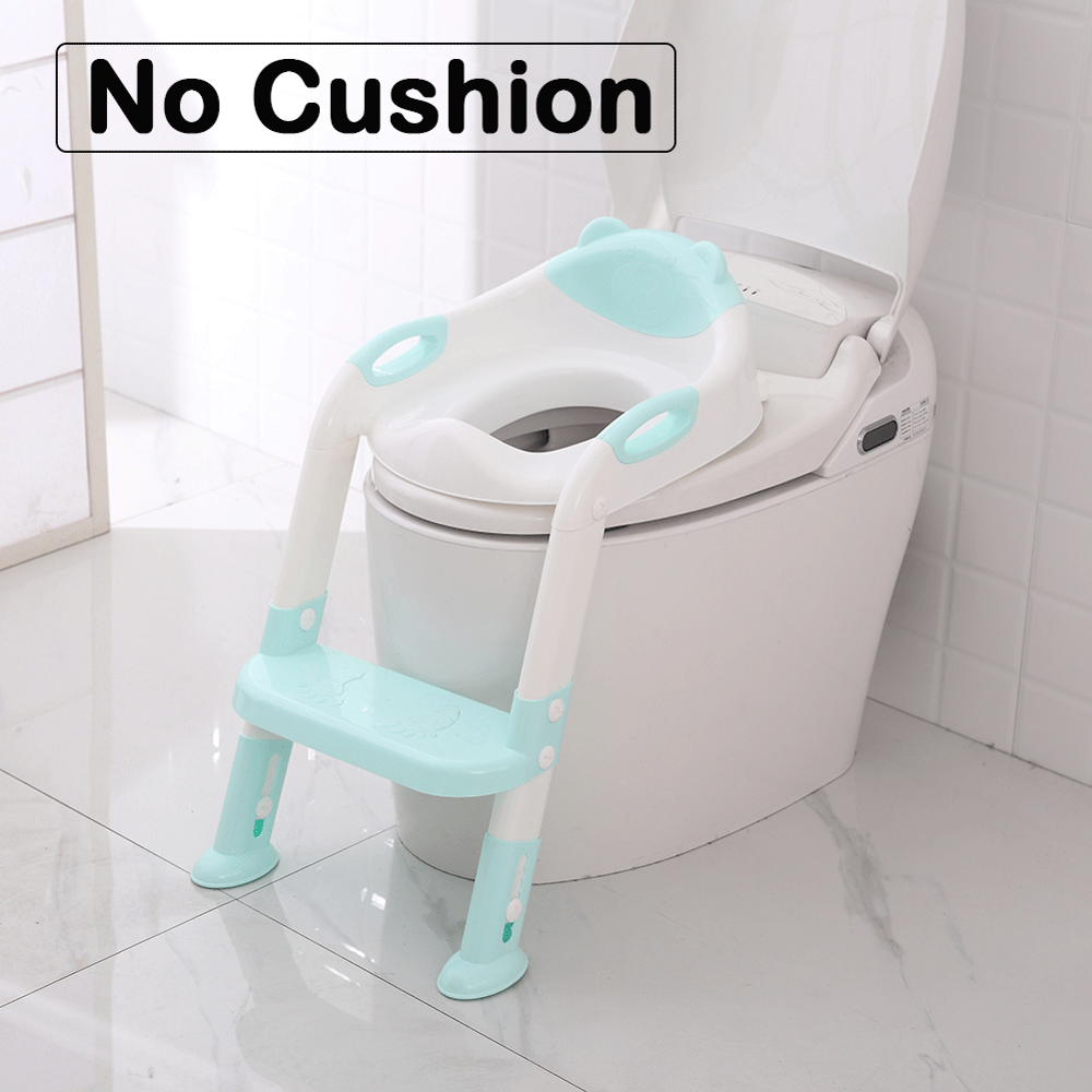 Frog Plastic Trainers Potty Toilet With Armrests Baby Potties Seat Ring Pad Child Toilet Pan Kids Training Toilet Seat Dropship