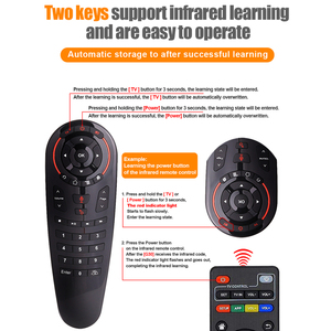 Image 5 - g30 Air Mouse g30s fly airmouse 2.4G Remote Control Controller Google Voice For Htv 6 box Xiaomi i9 X96 H96 max Mag 322 tv Box