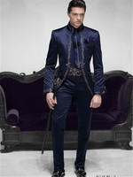 New Coat Pant Design Embroidery Men Suit Slim Fit 3 Piece Blazer Custom Groom Tuxedo Fashion Prom mens Suits Terno Masculino