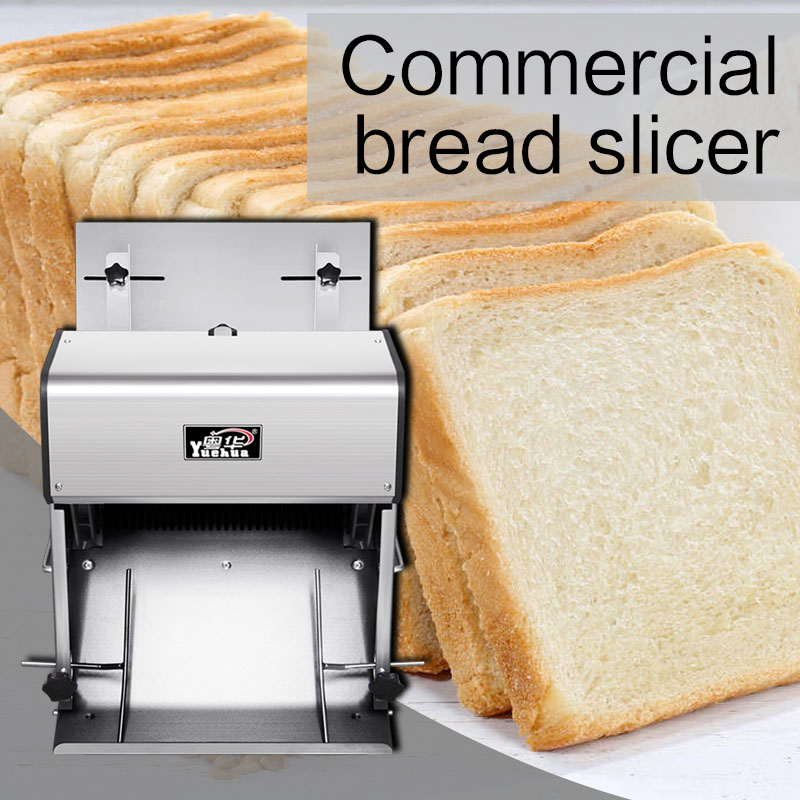 370W Multifunction Electric Bakery Toast Bread Slicer Stainless Steel Square Slicer Commercial Bread Slicer