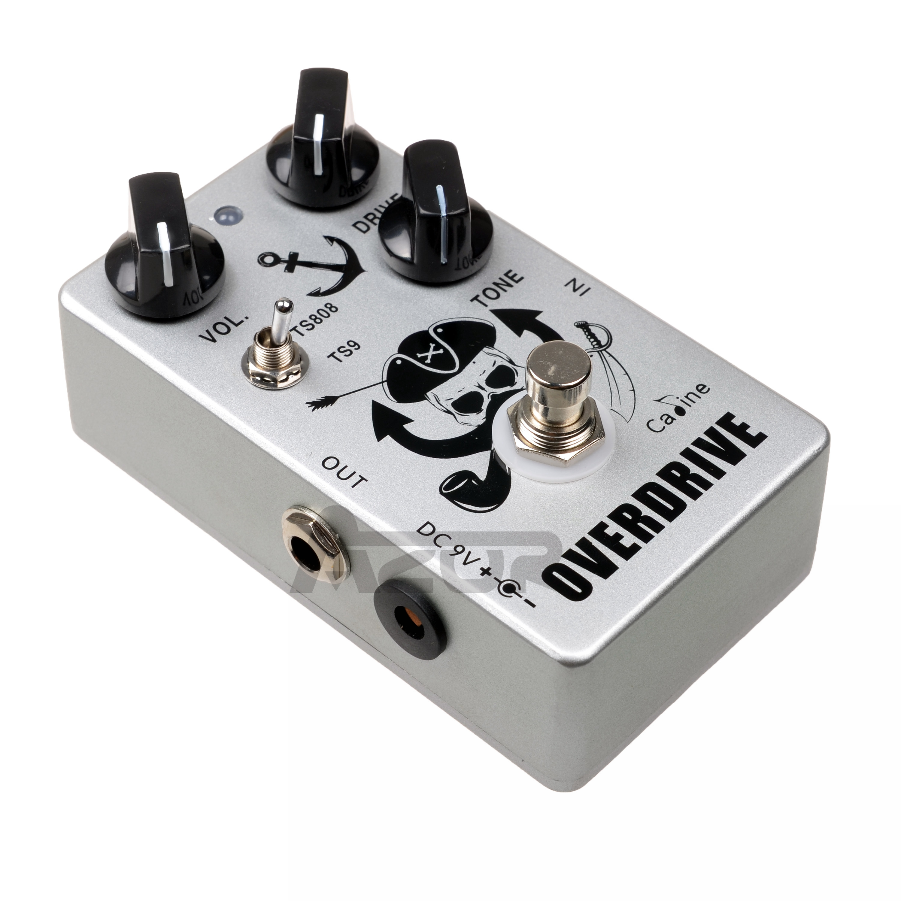 CP-76 Captain Silver Overdrive Guitar Pedal Tube Screamer 9V Effect Pedal TS808 Or TS9 Setting Guitar Accessories True Bypass