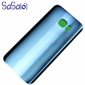 Image 5 - 10 unids/lote de reemplazo de cubierta trasera de cristal para Samsung galaxy S7 G930 / Edge G935, carcasa trasera, funda para puerta de batería con adhesivo