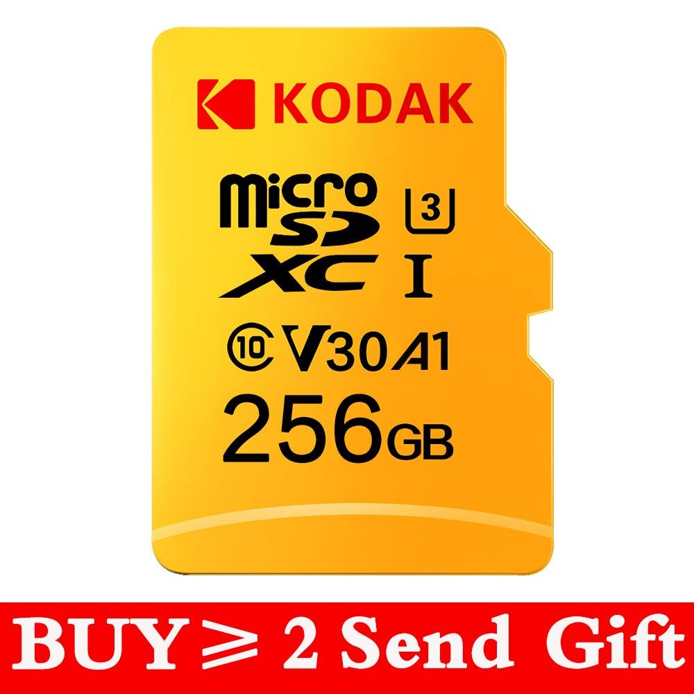 KODAK-carte Micro SD, 16 go/32 go/64 go/128 go/256 go/512 go, classe 10, U1 TF, U3, mémoire Flash, compatible 4K, UHS-I