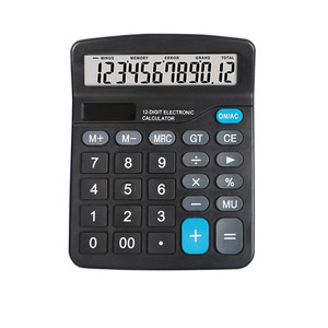 Solar Calculator 12 Digit Large Screen Calculator Financial Accounting Clear Inventory Office Home Stationery Dual Power Supply