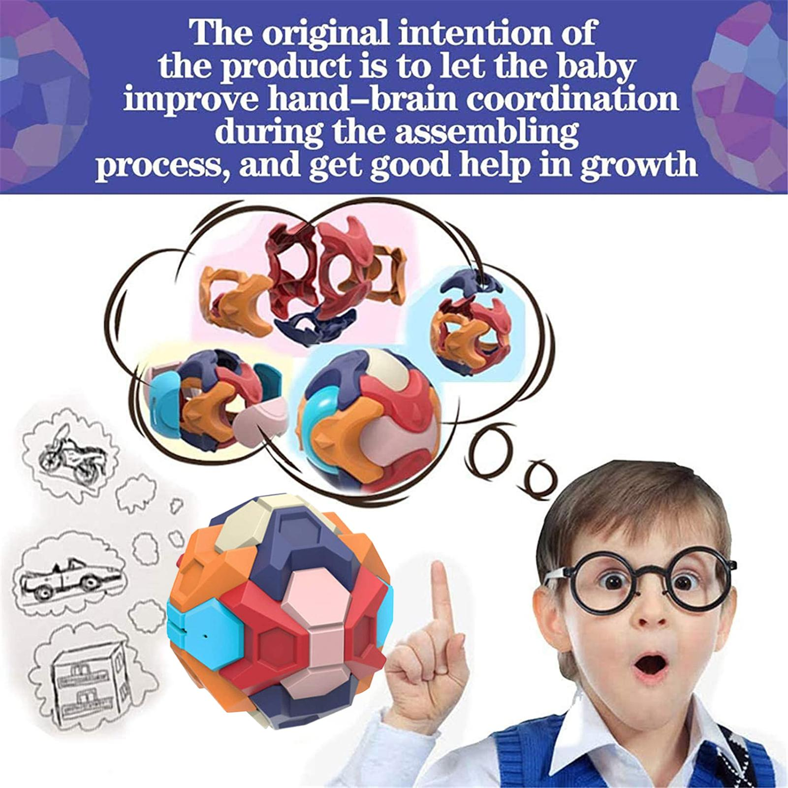 Assembled Piggy Bank 3D Puzzle Ball Intelligence Building Blocks Educational Toy Parent-child Interactive Game Children Toy Gift