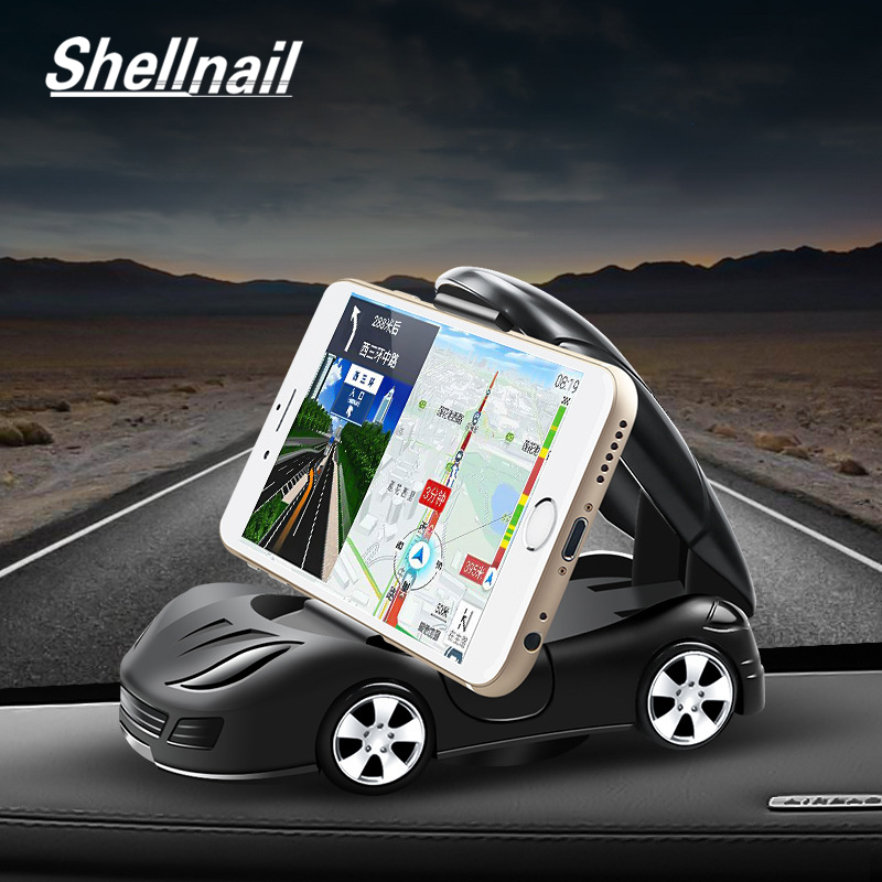 SHELLNAIL Car Phone Stand Sports Car Model Navigation GPS Plastic Navigation Holder Interior Dashboard Decoration Phone Support