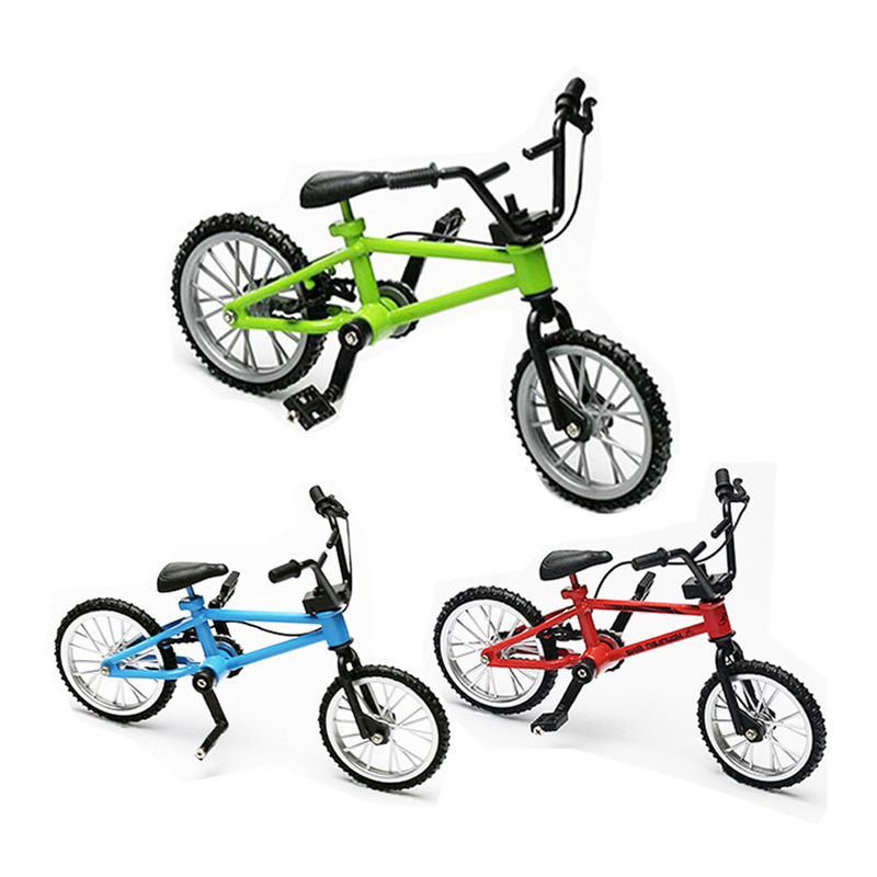 10pcs/lot Aluminum Alloy + ABS Mode Finger Bike Toy Mini Finger Bicycle Toys Diecast Model Toy Free Shipping