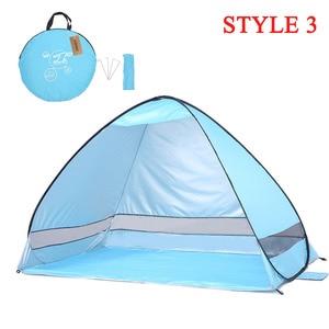 Image 3 - KEUMER Automatische Camping Zelt Schiff Von RU Strand Zelt 2 Personen Zelt Instant Pop Up Öffnen Anti UV Markise Zelte outdoor Sunshelter
