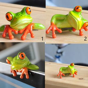 3D Resin Frogs Figurine Cute Animal Resin Miniatures Craft Home Fairy Garden Ornament Decor Gifts