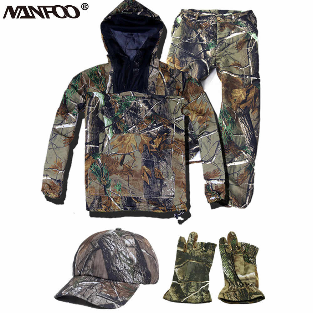 새로운 여름 Bionic Camo 낚시 의류 Anti-mosquito Hooded Camo Hunting Suit 경량 선 스크린 세트 Jacket Pants Unisex