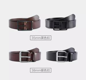 Image 2 - Youpin Qimian Men Belt Male Genuine Leather Strap Vegetable tanned Cowhide Belt For Men 3.8CM High Quality Pin Buckle Waist Belt