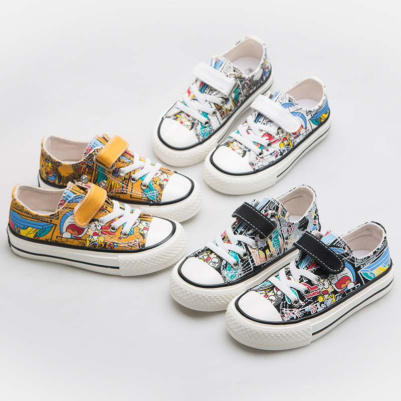 Children Canvas Shoes Girls Sneakers Boys Casual Shoes 2020 New Spring Fashion Cartoon Sneakers Kids Casual Shoes Footwear