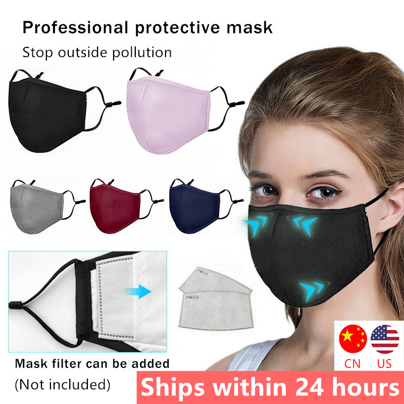 Anti Pollution PM2.5 Mouth Masks Dust Respirator Washable Reusable Masks Cotton Unisex Mouth Muffle For Allergy/Asthma/Travel