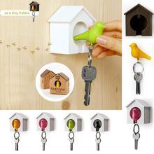1 шт. брелок для ключей, брелок птичка, птичий домик, дизайнерские брелоки, креативный набор брелоков ключей, вешалка для ключей, кольцо, держатель для гнезда, настенная вешалка, наклейка на стену