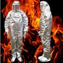 Противопожарная изоляция костюм 500 °C высокотемпературные с защитой от ожогов излучения Защитная ткань Защитный изолированный огнеупорный костюм DFH003