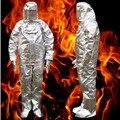 Противопожарная изоляция костюм 500 °C высокотемпературные с защитой от ожогов излучения Защитная ткань Защитный изолированный огнеупорный...