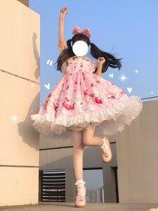 Женское платье на бретельках Lolita Tea Rabbit sergers, вечернее платье в готическом стиле, стиль Ренессанс, JSK
