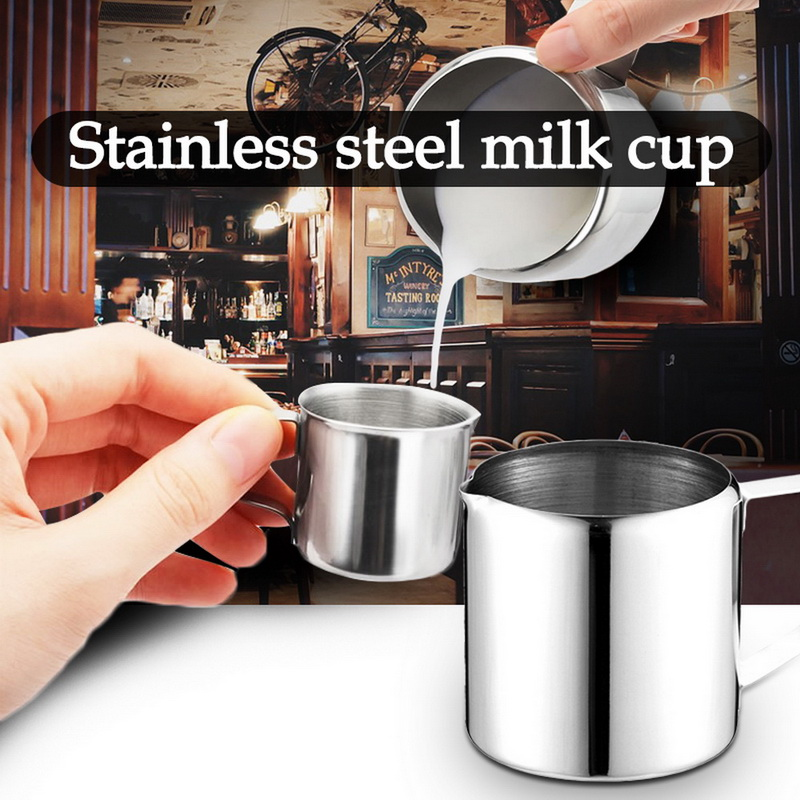 Milk Frothing Pitcher Cup for Latte Art Stainless Steel Pull Cups Fancy Coffee Tips Pull Flower Cylinder Stainless Steel 600ml