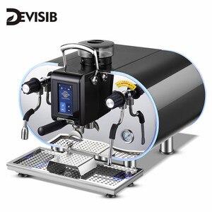DEVISIB сенсорный экран коммерческий автоматический эспрессо кофе машина американо чайник с бобовым шлифовальником и отпариватель молока