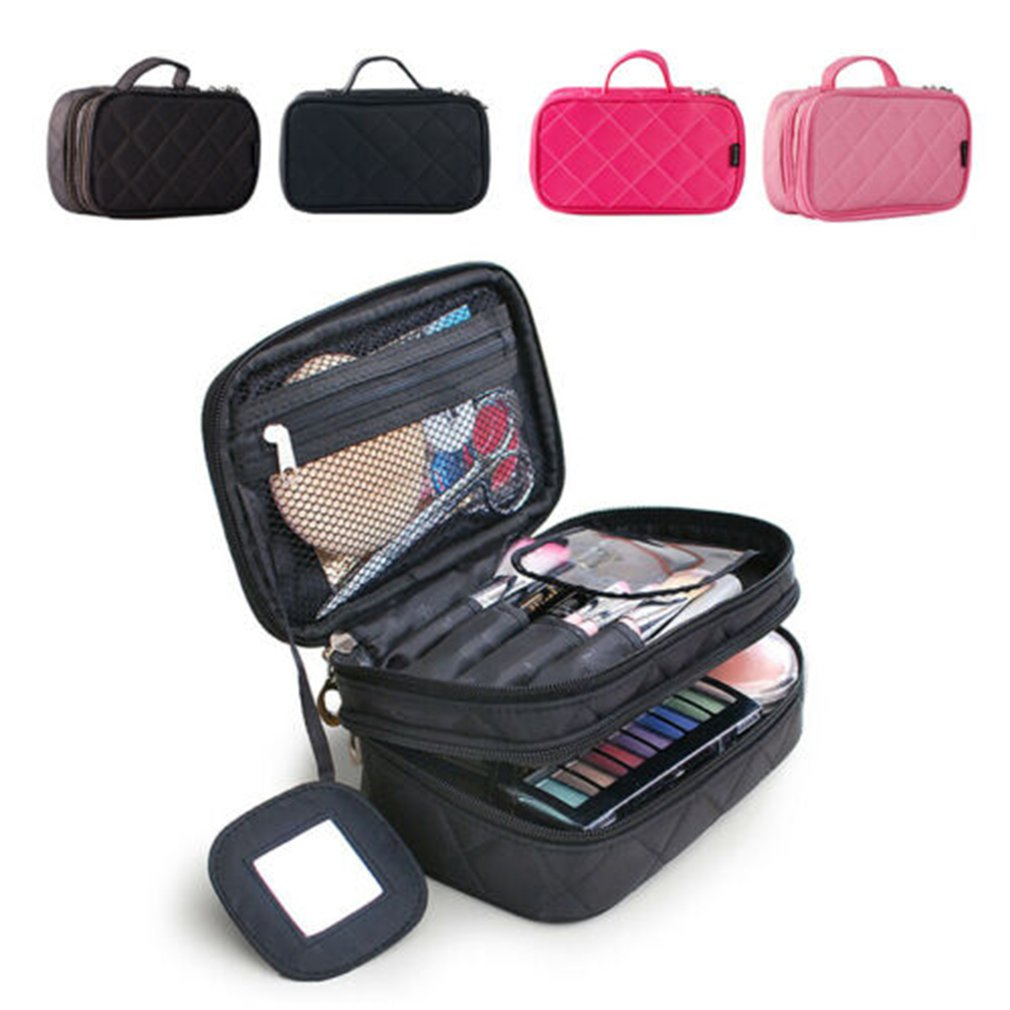 Drawstring Shrink Cosmetic Bag Women Travel Organizer Lazy Makeup Case Pouch Beauty Vanity Toiletry Kit Tool Storage Bag