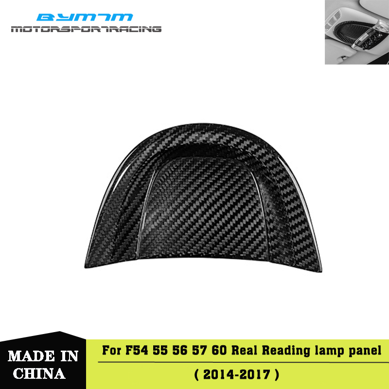 Dry <font><b>Carbon</b></font> fiber Reading lamp Decorative panel Car interior For <font><b>MINI</b></font> F54 F55 <font><b>F56</b></font> F57 F60 image