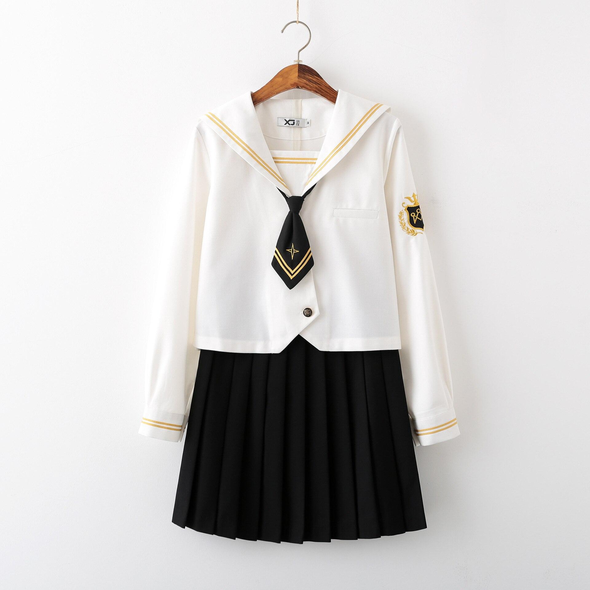 Japanese School Uniform Student Class Suit JK Uniforms Orthodox Sailor Dress Genuine School Girl Costume Corea Japonais Seifuku