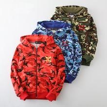 Spring Autumn Kids Jackets for Boy Coat Bomber Jacket Army Green Boys Windbreaker Winter Print Children Coats