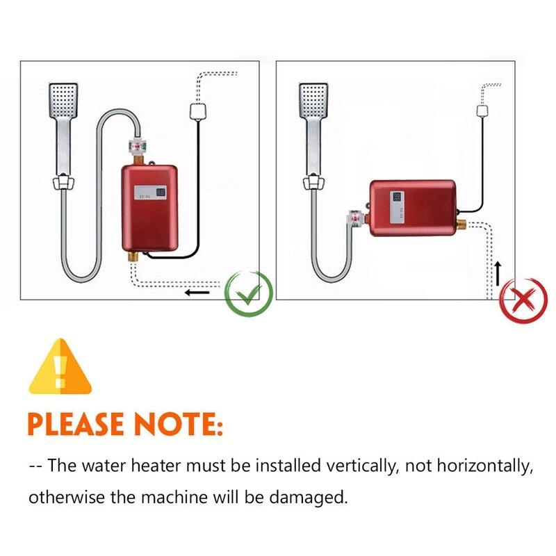3800 w mini elétrico tankless instantânea aquecedor