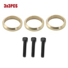 3X3PCS Copper Exhaust Gasket O Ring Screws Set For Yamaha Snowmobile FX Nytro RS Vector Rage Apex RX1 LTX Attak 99999-03989