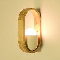 クリエイティブ木製壁ランプ北欧クリエイティブ壁ランプ 220V モダンシンプル Led 寝室のベッドのリビングルームの研究読書ライトロングウッド