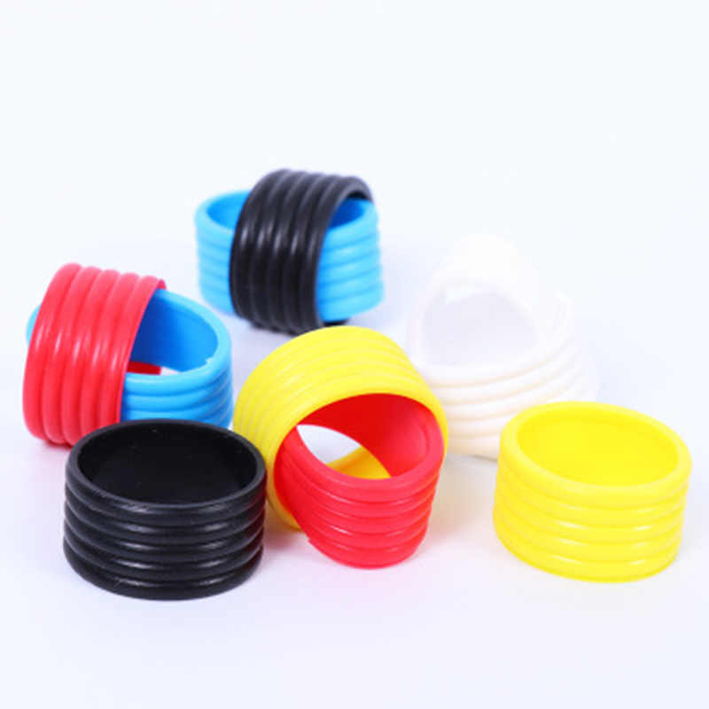 5pcs/lot Tennis Racket Handle's Rubber Ring Elastic Protector Tennis Handle Tape Fix Ring Tennis Racket Overgrip Ring