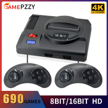 Classic TV Video Game Console For Sega Retro Game Console Built-in 604 8bit 86 16bit Games HDMI Output Gift For Christmas